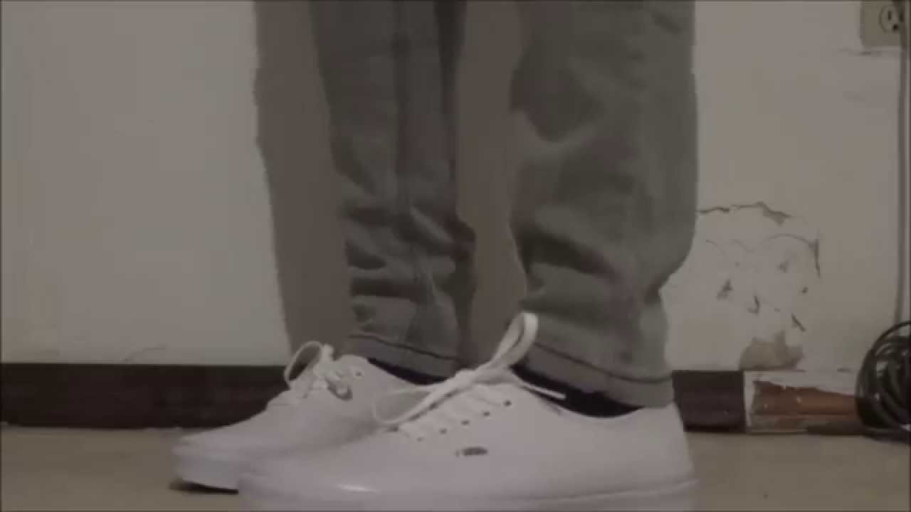 Vans Authentic  True White  shoes on feet - YouTube 42ad0e3689af