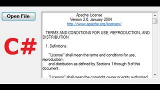 C# Tutorial 25: Open File text into Textbox or richTextBox in C#