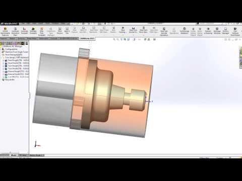 CAMWorks - Turning Introduction - YouTube