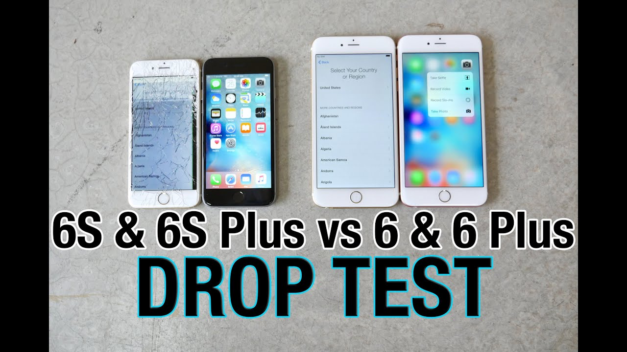 iPhone 6S VS iPhone 6S Plus Drop Test VS iPhone 6 & iPhone 6 Plus ...