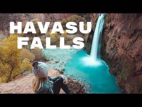 HIKING TO HAVASU FALLS + THE HAVASUPAI TRAIL   Exploring Havasupai Vlog  - Part 1