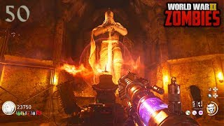 WW2 ZOMBIES - ROUND 50 HIGH ROUNDS HARDCORE EASTER EGG COMPLETION!!! (Call of Duty WW2 Zombies)
