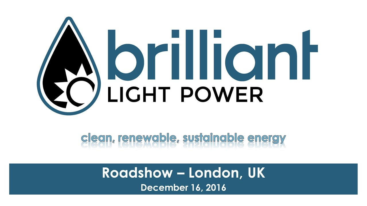 Brilliant Light Power's December 16th, 2016 London, UK ...