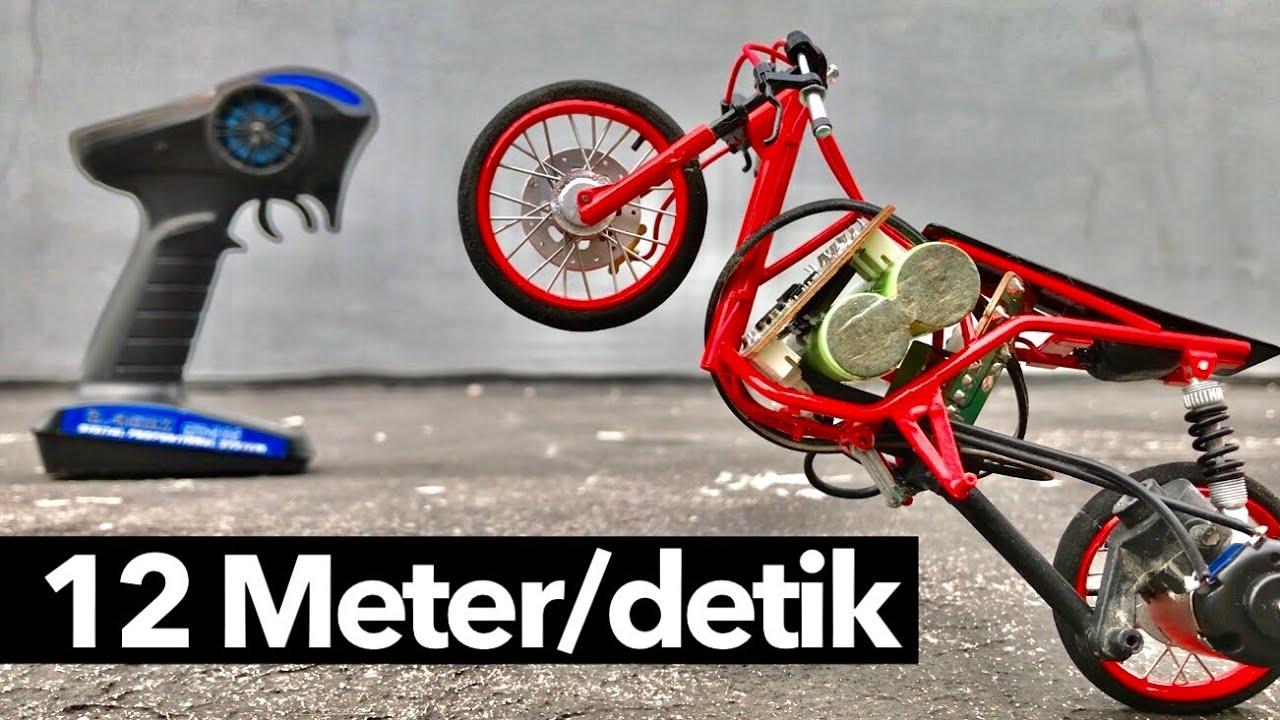 RC Sepeda Motor Drag Race Tercepat, pakai Dinamo Setan