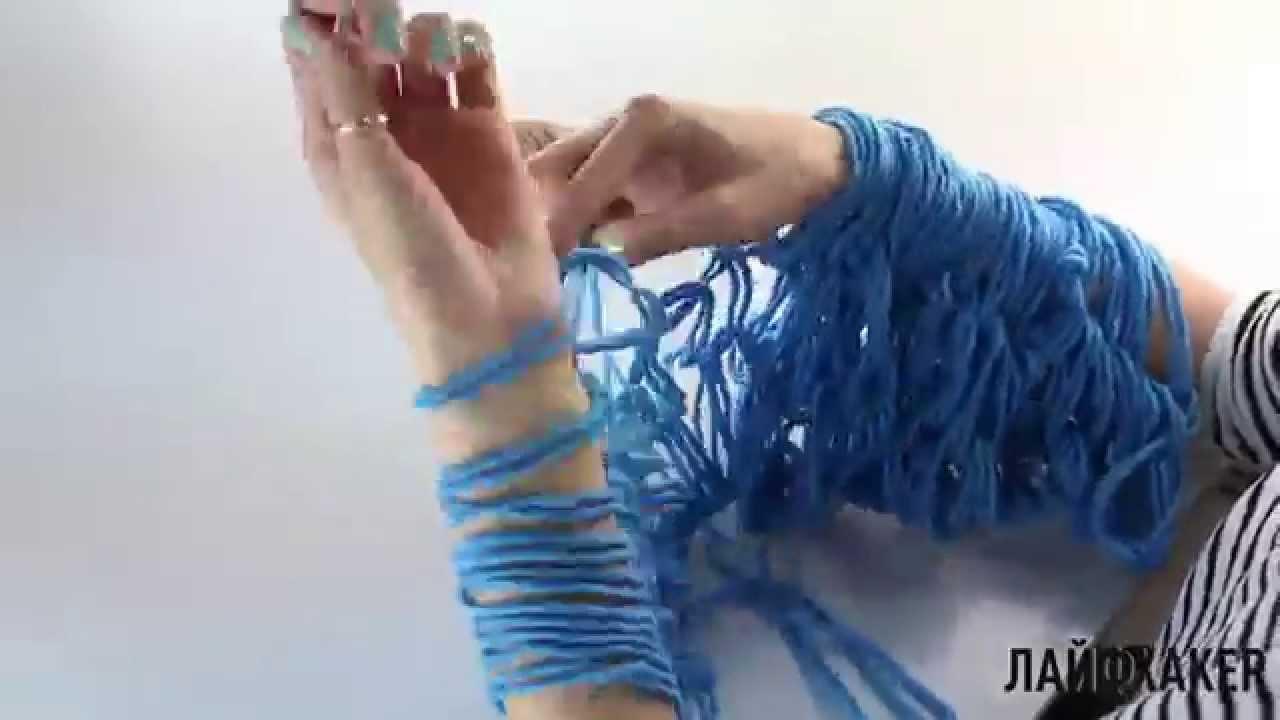 Как сделать шарф спицами