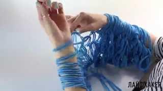 Как связать шарф без спиц | Лайфхакер
