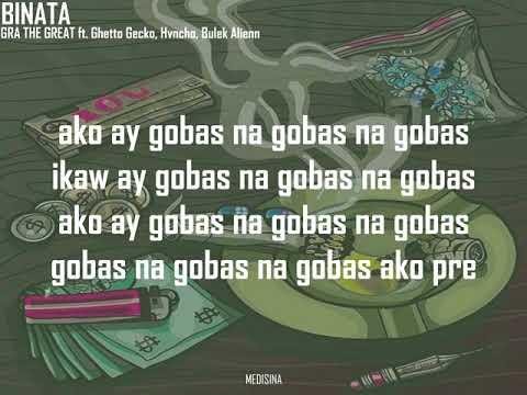BINATA - GRA THE GREAT ft. Hvncho, Bulek, Ghetto Gecko (Official Lyric Video)