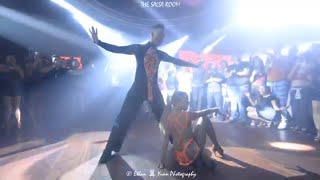 GABY & ESTEFY Salsa Dance Performance At THE SALSA ROOM
