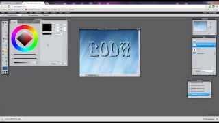 Как сделать прозрачный текст в онлайн фотошоп