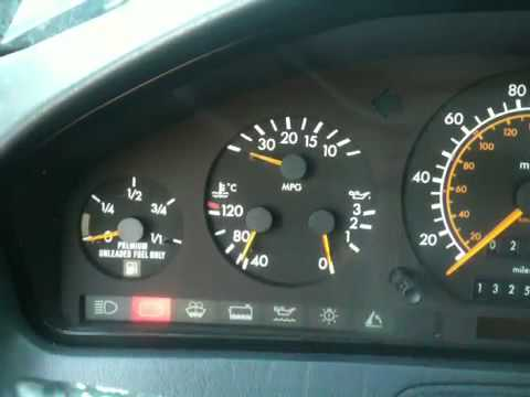 1991 mercedes benz r129 300sl instrument cluster freakout for Mercedes benz dashboard lights not working