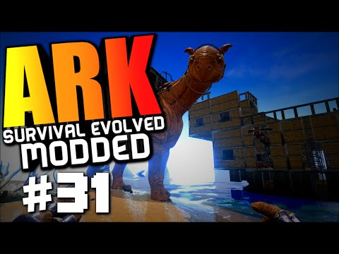 ARK Survival Evolved - THE WARSHIP, TAMING A PARACERATHERIUM Modded Survival #31 (ARK Gameplay)