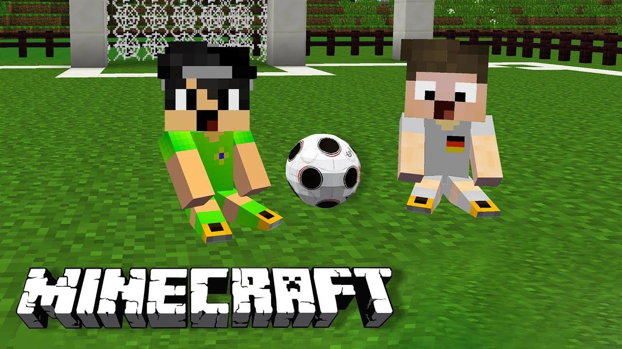 LIX UND ICH SPIELEN FUSSBALL IN MINECRAFT YouTube - Minecraft fubball spielen deutsch