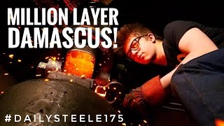 One of Alec Steele's most viewed videos: ONE MILLION LAYER DAMASCUS STEEL!!!! Will it work!?!?