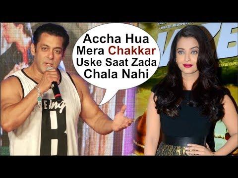 Salman Khan Takes A DIG At His AFFAIR With Aishwarya Rai At Loveratri Song Concert
