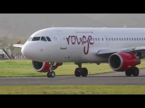 air Canada Rouge a319 Diverted to TLPL St Lucia from Barbados