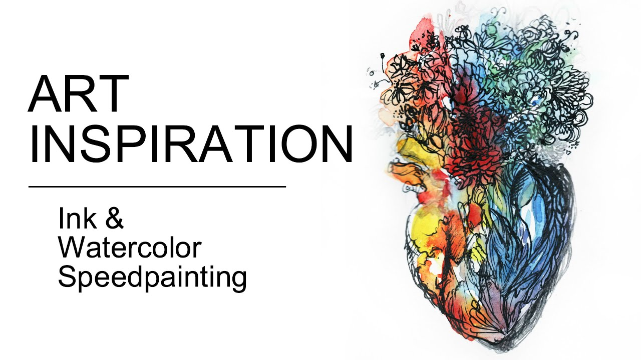 Painting Inspiration: Follow Your Heart: POWERFUL Inspiration (Watercolor X Ink