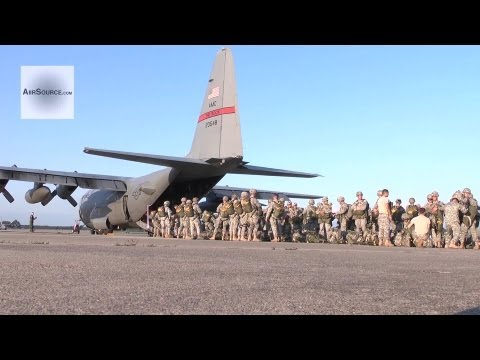 C-130 Airlift Mission, Dropping Army Personnel - JOAX 12-02