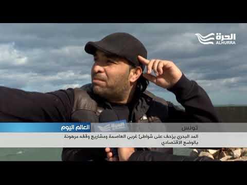 المد البحري يزحف على شواطئ غربي العاصمة التونسية ومشاريع الحماية مرهونة بالوضع الاقتصادي