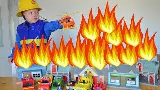 Fireman sam HUGE FIRE The Great fire of pontypandy Feuerwehrmann Sam Animation Story Fun Wow