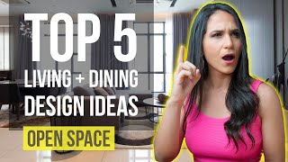 Top 5 Living room + Dining room Interior Design Ideas | Tips and Trends for Home Decor - Open Space