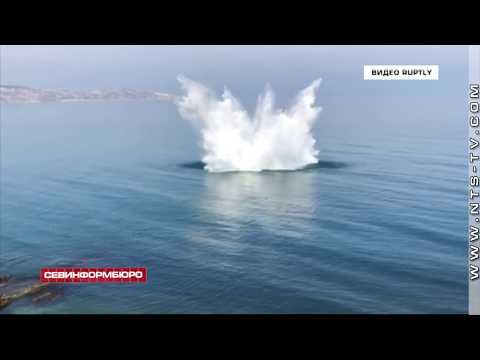 НТС Севастополь: На Черноморском побережье под Феодосией подорвали авиабомбу весом в 1 тонну