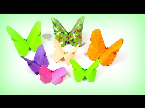 origami schmetterling falten basteln mit papier diy bastelideen youtube. Black Bedroom Furniture Sets. Home Design Ideas