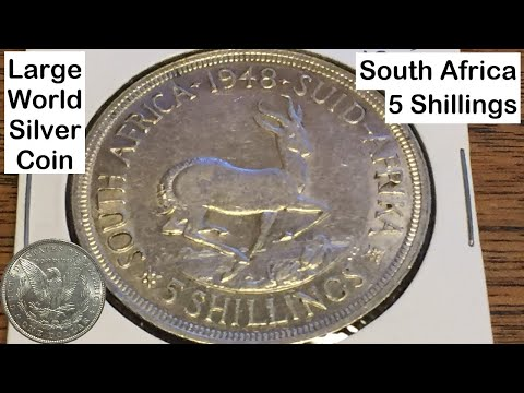 South Africa 5 Shillings 1948 (Large Silver Coin of the Week Nov 1 2016)