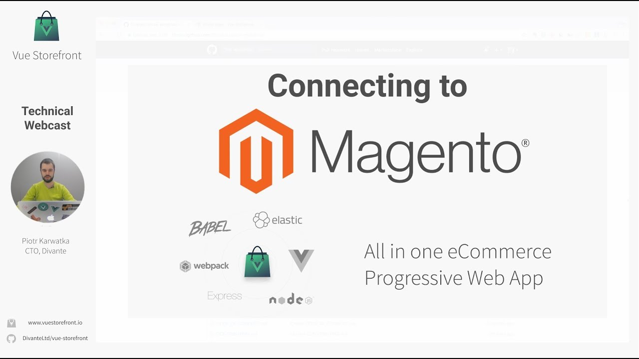 Connecting PWA to Magento - #03 Vue Storefront Technical Webcast