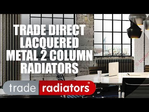 Trade Direct 2 Column Radiator, Lacquered Metal, 1800mm x 480mm