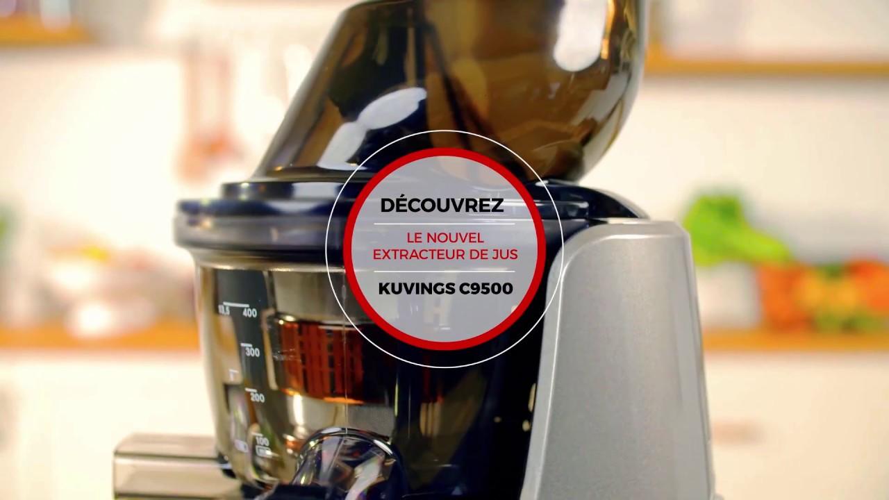 d couvrez l 39 extracteur de jus kuvings c9500 youtube. Black Bedroom Furniture Sets. Home Design Ideas