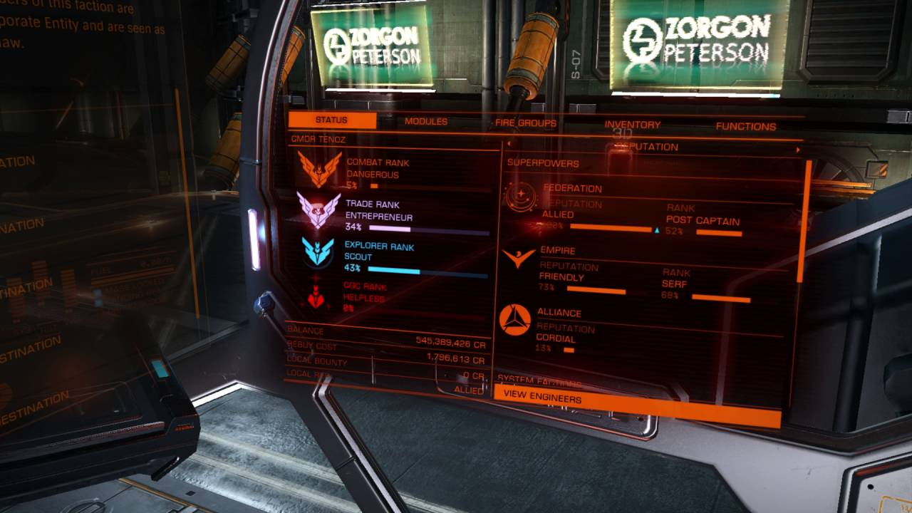 Quick Federal Ranking in Elite Dangerous 2 1 04 - Davis Brown