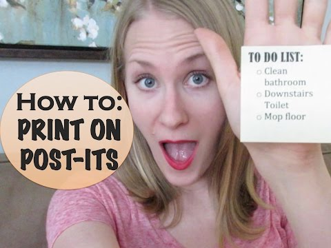 ORGANIZING TIP:  Print on Post It Notes (Collab)