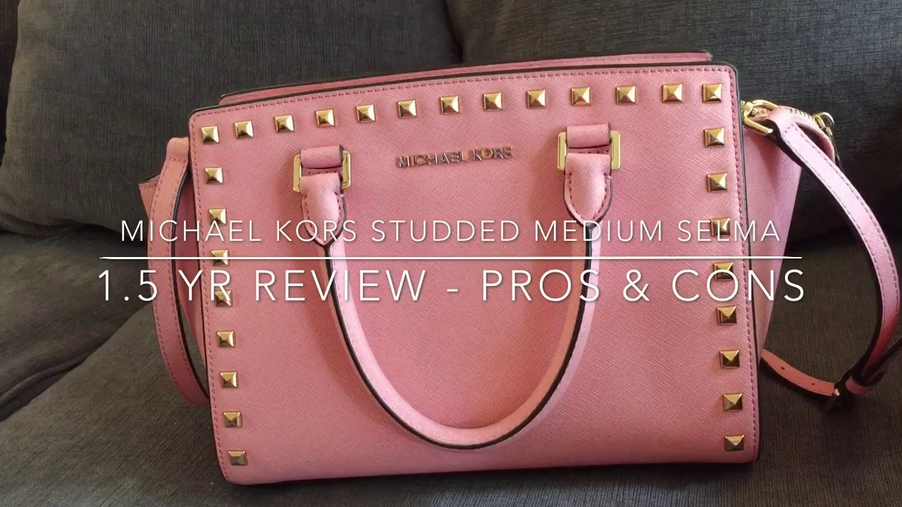 dbb1b4b836cc 1.5 Yr Review- Pros And Cons - MICHAEL KORS STUDDED SELMA Handbag ...