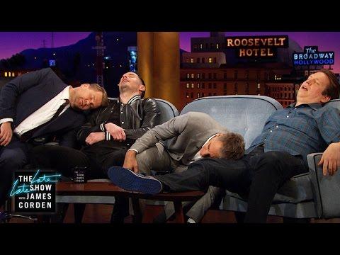 Pete Holmes Teaches Scott Bakula & JJ Redick the 'Fake Up'