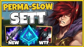 WTF! YOU CAN'T ESCAPE THIS PERMA-SLOW SETT BUILD! SEASON 10 SETT TOP GAMEPLAY - League of Legends