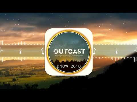Outcast logo musical note orange loop