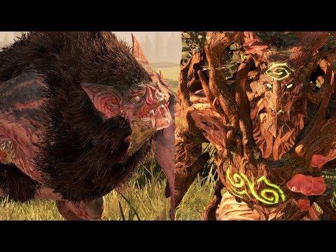 Treeman Versus Monster of Undead - Massive Battle Total War Warhammer |