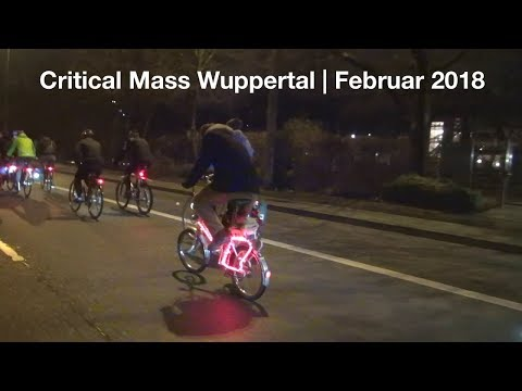 Critical Mass Wuppertal - Februar 2018