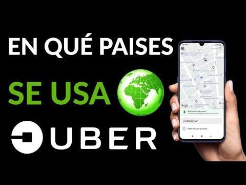 Dónde se Usa UBER - En que Paises y Ciudades Hay UBER