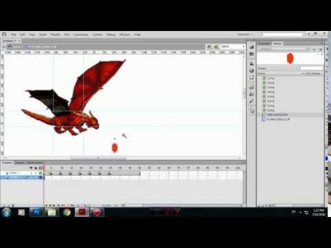 FLYING DRAGON ANIMATION USING ADOBE FLASH