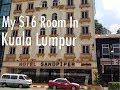 My $16 Room In Kuala Lumpur, Malaysia. Sandpiper Hotel.