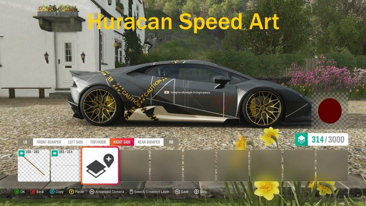 FH4 Lamborghini Huracan Speed Art - YouTube