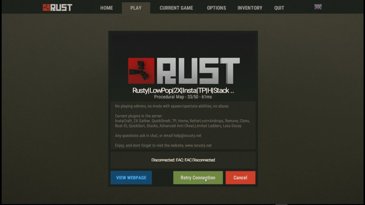 How to fix the Rust EAC connection error (2017 Still Working)