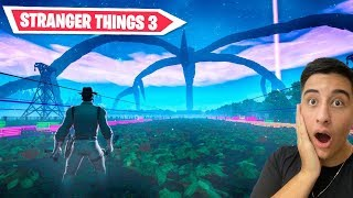 I won in the new secret mode of Stranger Things 3 at Fortnite