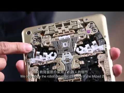 "Xiaomi x Hasbro = Mi Pad 2 ""Sound Wave"" Transformers"