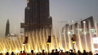 Dubai Fountain Show – Andrea Bocelli