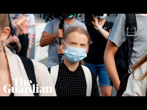 Greta Thunberg speaks to the media after her meeting with Angela Merkel – watch live
