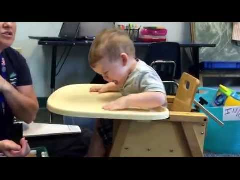 EJ's first early intervention appointment at all children's 7-13-15