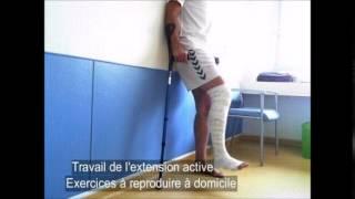 Rééducation après ligamentoplastie de genou réalisée en ambulatoire