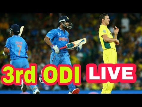 IND vs AUS Live 3rd ODI streaming . India Vs austrailia cricket match , kohli , dhoni ,hardik pandya